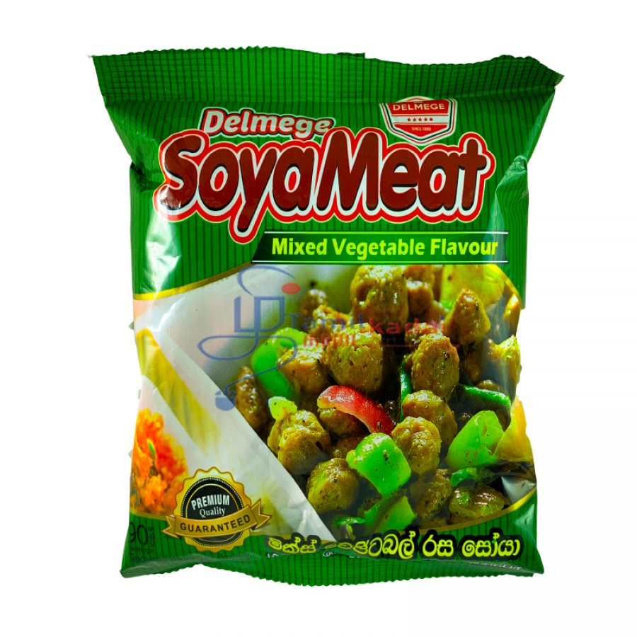 Delmege Soya Meat Mixed Vegetable Flavour - மரக்கறி சோயா மீட்  (90g)